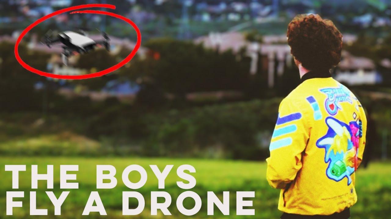 The Boys Fly a Drone