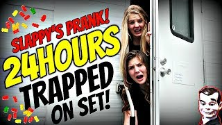 Download Video SLAPPY'S PRANK || 24 HOURS ON THE SET OF GOOSEBUMPS 2: HAUNTED HALLOWEEN || Taylor and Vanessa MP3 3GP MP4