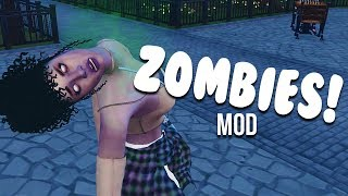 ZOMBIE MOD | ATTACK SIMS, EAT BRAINS, and MORE | The Sims 4 Mods