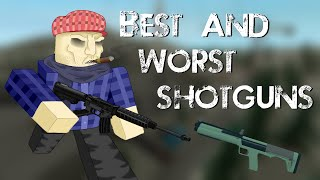 [ROBLOX] Phantom Forces - Best and Worst Shotguns?