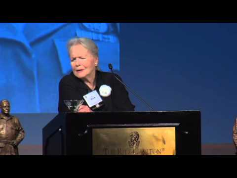Marlene Dietrich's daughter, Maria Riva, speaking at the William J. Donovan Award® Dinner