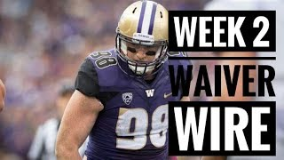 Fantasy Football 2018 | Week 2 Waiver Wire