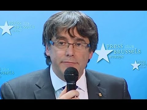 Catalonia leader Carles Puigdemont speech in Brussels (31 Oct 2017)