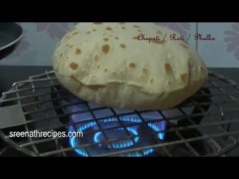 How to make Soft Chapati / Soft Phulka Recipe - Roti - Indian Flat Bread Recipe