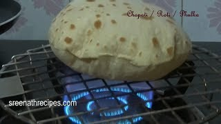 How To Make Soft Chapati / Soft Phulka Recipe - Roti - Indian Flat Bread Recipe