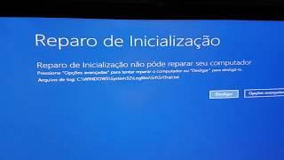 ERRO INICIALIZACÃO Windows 10 (resolvido)