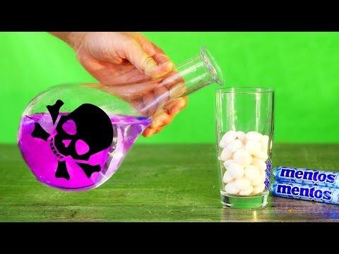 Sulfuric ACID (H2SO4) VS MENTOS! 7 UNBELIEVABLE EXPERIMENTS