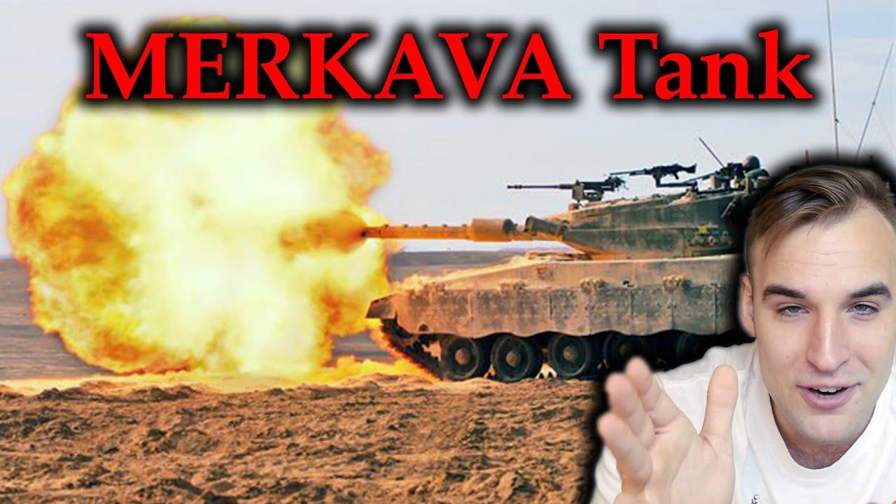 Estonian Soldier reacts to MERKAVA Tank