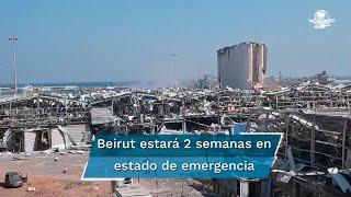 Muchos edificios y casas quedaron destruidos y, de acuerdo con el gobernador Marwan Abboud, habría hasta 300 mil personas que se quedaron sin hogar