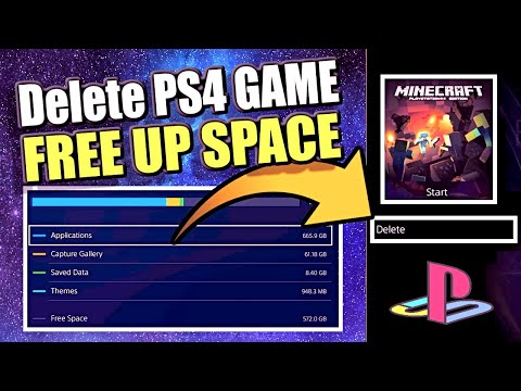 How To DELETE Games On PS4 And FREE Up SPACE On PS4 Hard Drive (Best Method)