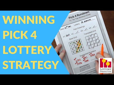 Winning Pick 4 Lottery Strategy - 1 3 5 Tic Tac Toe Rundown