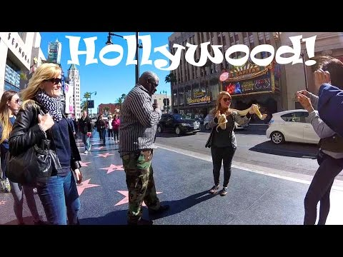 California Travel: Tour of Hollywood Boulevard & the Walk of