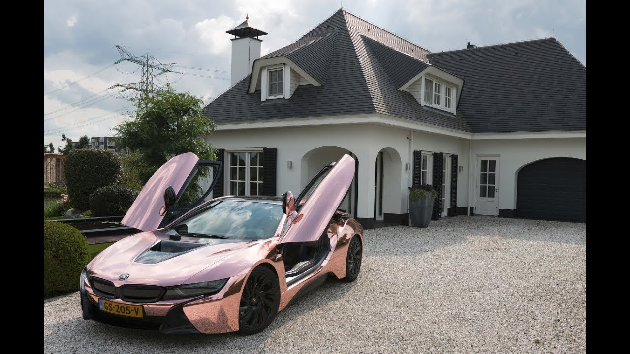 My First Supercar Bought At 26 Rose Gold Chrome BMW I8