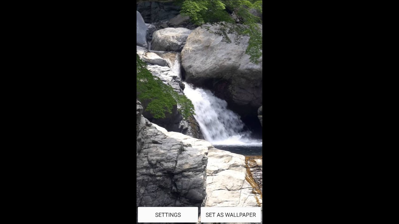 Waterfall Live Wallpaper for Android OS