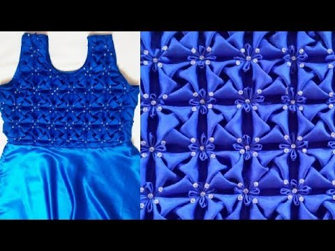 Whirl Pattern Frock Making At Home In Hindi Smocking Origami Flower Gorgeous How To Stitch Pillow Cover In Hindi