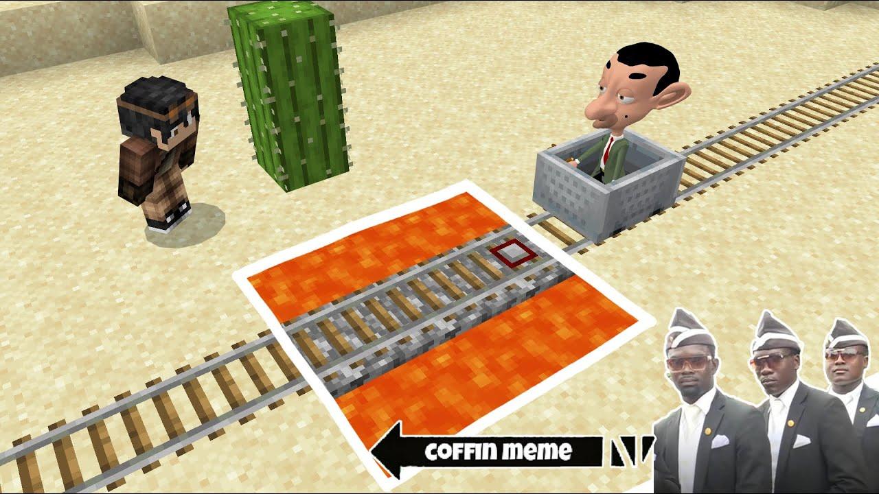 Traps for Mr. Bean Cartoon in Minecraft - Coffin Meme