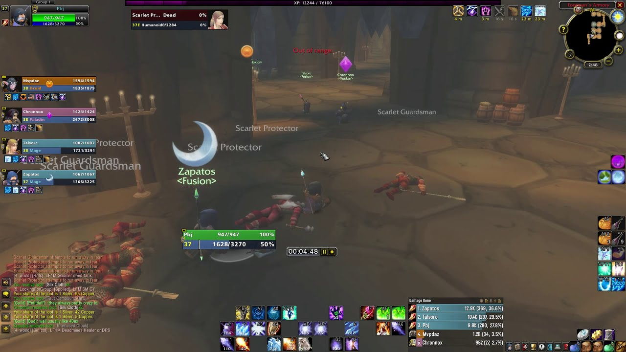 WoW Classic SM Armory spell cleave run