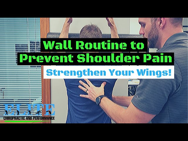 Wall Routine to Prevent Shoulder Pain | Scapular Stability