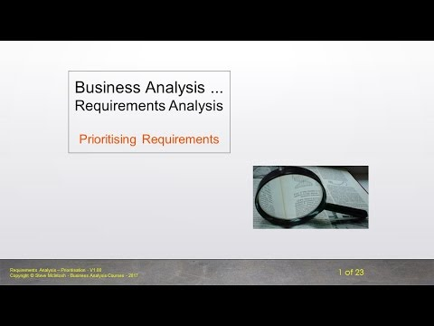 Bite Size BA - Requirements Analysis - Prioritising Requirements