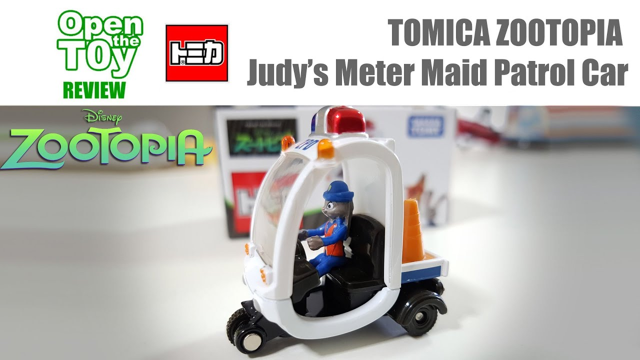 zootopia tomica judy 39 s meter maid patrol car youtube. Black Bedroom Furniture Sets. Home Design Ideas