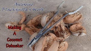 Making A Coconut-Dehusker|Coconut-Splitter/ប្រដាប់បកដូង