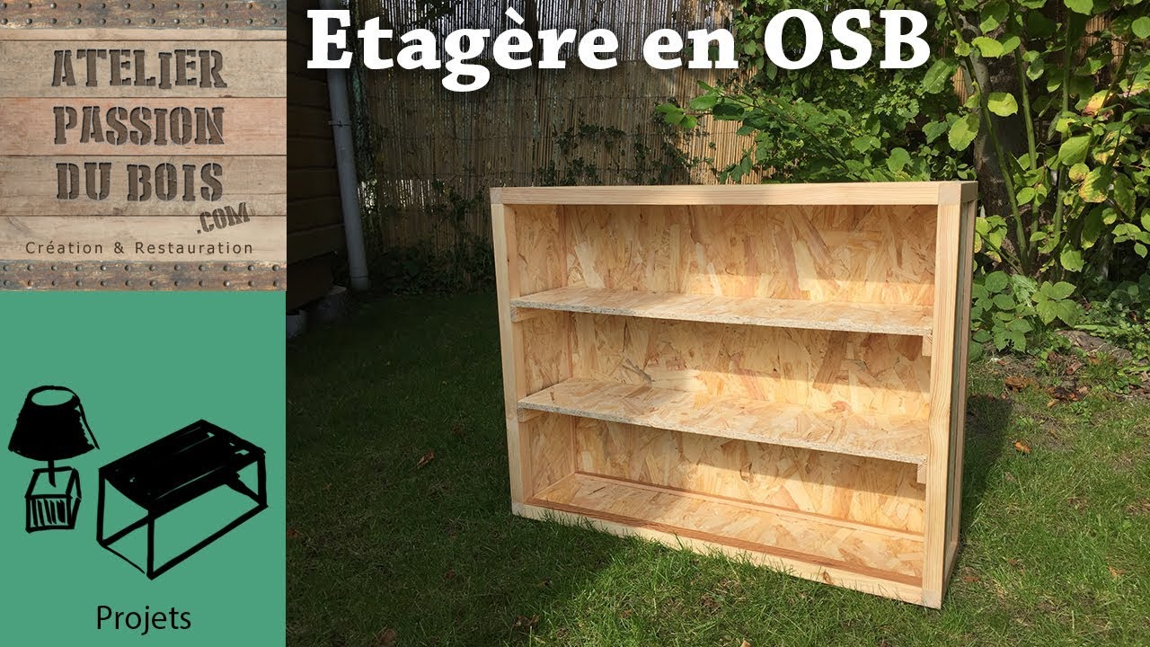 etagere en osb osb shelf recycling youtube. Black Bedroom Furniture Sets. Home Design Ideas