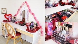 my full makeup hair collection storage room tour   kayleigh noelle