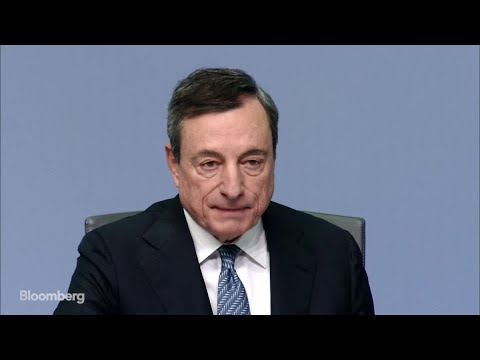 ECB's Draghi Says Incoming Data Weaker Than Expected