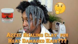 Aztec Secret Healing Clay on Heat Damaged 4b/4c hair