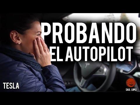 Miriam conduce con el AUTOPILOT de Tesla por primera vez - versión completa