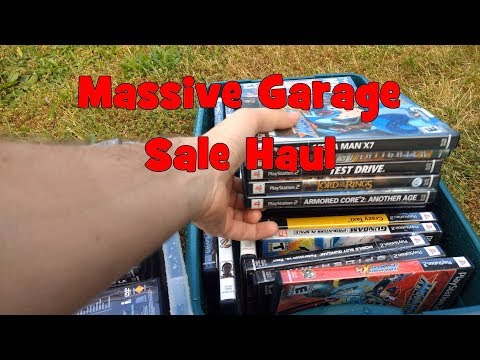 MASSIVE Video Game Garage Sale Haul (150+ Items for DIRT CHEAP)