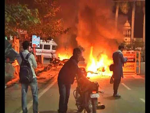 Banaras Hindu University students protest against a case of molestation