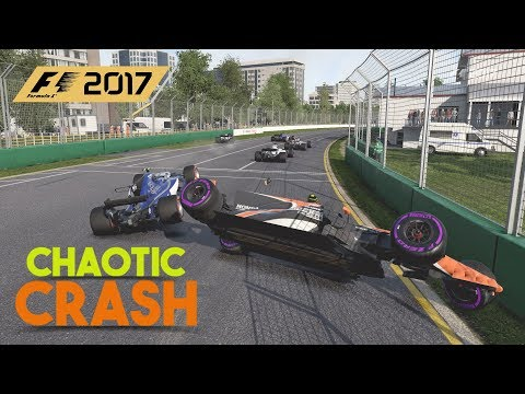 F1 2017 GAME | Chaotic Crash at Melbourne | PURSUIT GAMERS