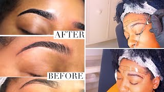 Microblading Eyebrows Experience | Process Steps, Healing & Aftercare with Before & After Pics