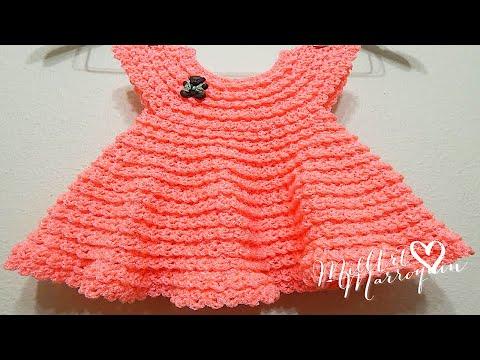 Vestido Crochet 0-3 meses Durazno y cualquier talla parte 1 de 2 ...