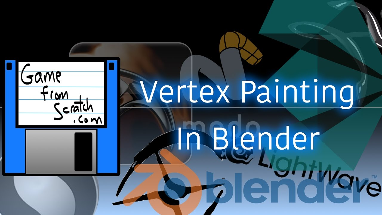 Vertex Painting (And Baking) In Blender - YouTube