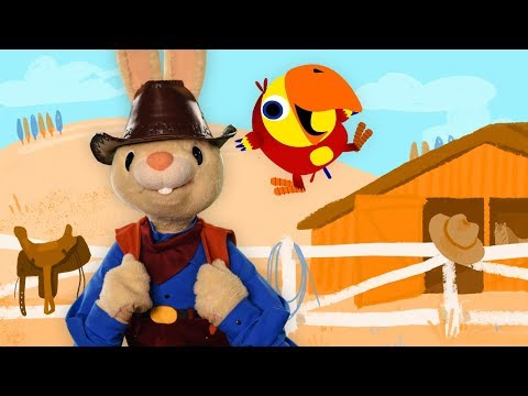Harry And Larry Pretend Play Cowboy | Baby Learning First Words with The Jobs Songs for Toddlers