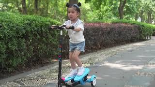Skuter Scooter Anak Injak Dual Pedal PVC - Skuter Mainan Anak Otoped