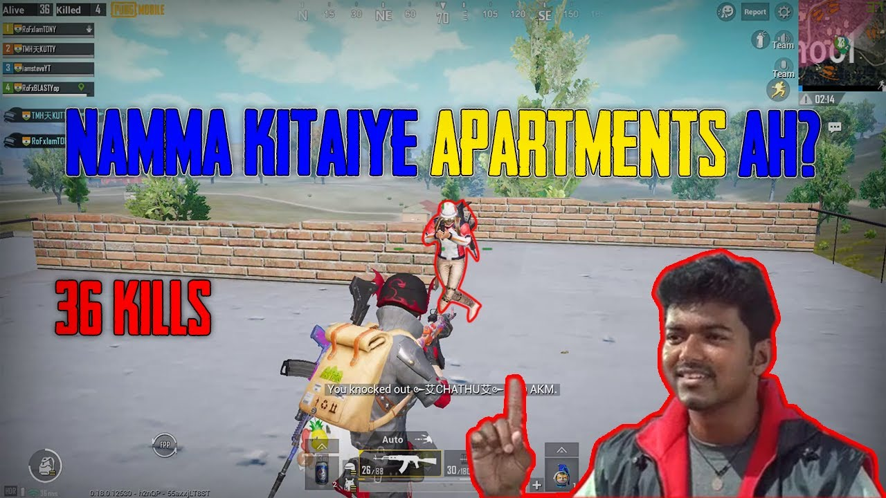 Apartments is My Favourite Place in Erangel PUBG Mobile   36 KILLS   IAMSTEVE YT