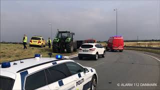 30.07.2019 - Vipvogn væltet i rundkørsel
