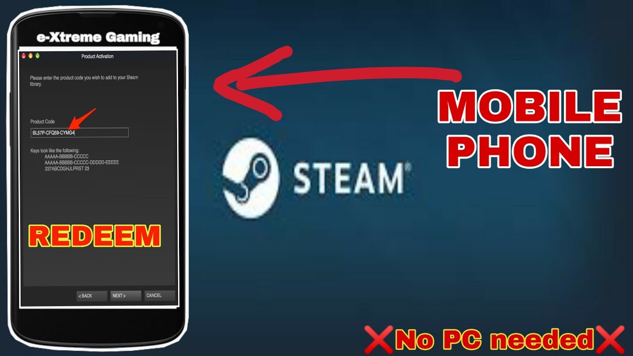 Steam cd key redeem mobile | Are there alternate methods to activate