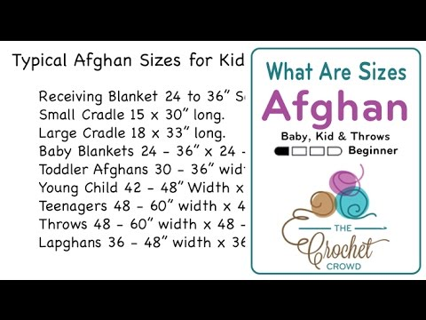 8ea8bf169d What Are Blanket   Afghan Sizes for Kids   Decor  - YouTube