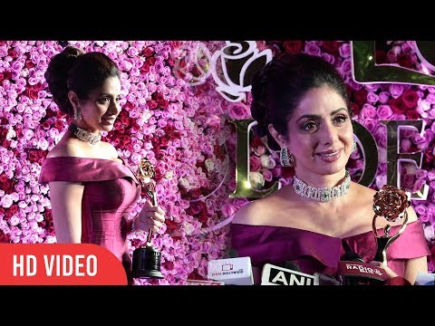 Sri Devi At Lux Golden Rose Awards 2017 | #LuxGoldenAwards 2017