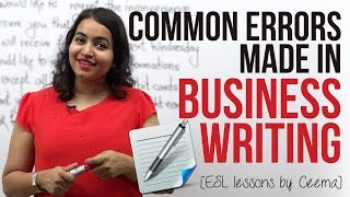 Common errors made in Business Writing ( Business Emails & Letters) - Business English Lesson thumbnail