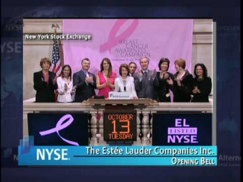 13 October 2009 Estee Laude NYSE Euronext Opening Bell.