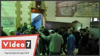 أول لقطات لوصول جثمان والد أبو تريكة لمسجد أبو سنة بناهيا تمهيدا لتشييع الجنازة