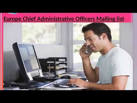 Europe Chief Administrative Officers Mailing list