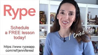 Jennifer's Tip: Sign up on Rype for a FREE English lesson! Learn how.