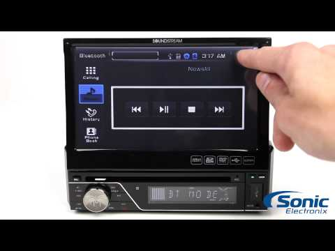 Soundstream VIR-7830B Single-Din Flip-Out Bluetooth Stereo
