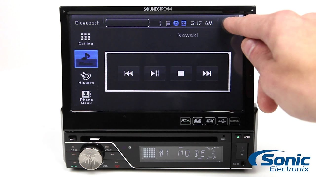 maxresdefault soundstream vir 7830b single din flip out bluetooth stereo youtube soundstream vir-7830 wiring harness at love-stories.co